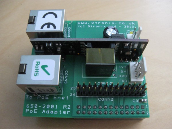 A picture of the Raspberry Pi PoE Adapter Top